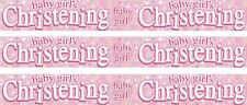 CHRISTENING GIRL PINK/ WHITE BANNERS (EX)