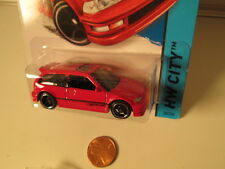 HOTWHEELS 1990 RED HONDA CIVIC EF SCALE 1:64 - HW CITY NEW FOR 2014