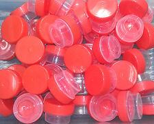 100 Tiny 1 tsp Plastic Jars Orange Caps Lid Container Geocache Pot Party Favors
