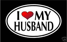 "5.75"" I LOVE MY HUSBAND vinyl decal sticker.. WIFE"