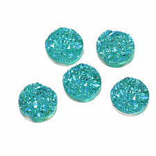 10 x Druzy 12mm Cabochon Shades of Jade Green  AB Perfect 4 Earrings