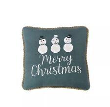 St. Nicholas Square 'Merry Christmas' Seashell Sand Dollar Coastal Throw Pillow