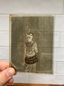 Antique Glass Slides, Photo Negatives, Native, Tribal Dress. Magic Lantern