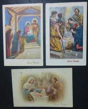 Lot 3 Postcard-Merry Christmas-crib - 1935-58