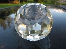 """MULTI-FACETED SOLID GLASS GLOBE 3.5"""" CANDLE HOLDER  CANDLE SIZE 1"""" DIAMETER"""