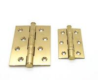 76mm x 50mm x 2mm Carlisle Brass Double Steel Washered Brass Butt Hinge