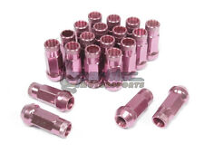 NNR Steel Extended Wheel Lug Nuts Open Ended Pink 49mm 12x1.5 20pcs