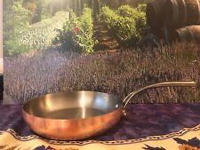 """Sur La Table 10-1/2"""" 24 cm Copper Fry Pan Vintage Made in Italy"""