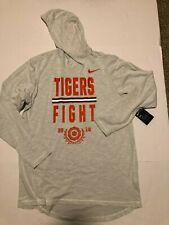 """NWT Clemson Tigers Nike Hoodie Tee Sail XL """"Tigers Fight"""" Hoodie Tee New"""