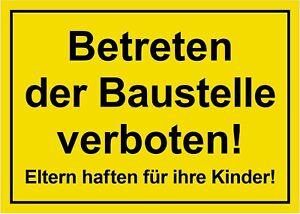 ☆ Schild - Betreten der Baustelle verboten 250 / 300 / 350 (Baustellenschild)