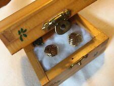 b8104f7c2 14k Yellow Gold Love Knot Omega Back Pierced Earrings Designer Signed