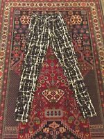 topshop black and white cracked effect leggings / jeggings with size zip size 8