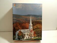 New Golden Books Jigsaw Puzzle, 500 Pieces,  Countryside Church NIB UNOPENED