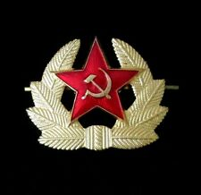 CAP BADGE Russia Soviet Union Army  Communist Red Star CAP Hat Pin Military USSR