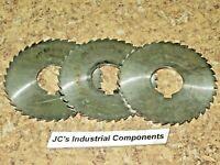 "3 pcs  Malco  slotting saws    4"" OD  X  3/32""  X  1-1/4""    HSS"