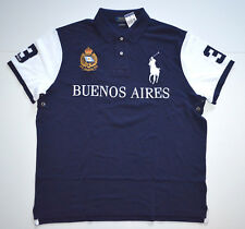 NWT Men's Ralph Lauren Short-Sleeve Polo Shirt, Blue, BUENOS AIRES, M, MEDIUM