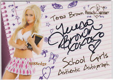 2011 BENCHWARMER LIMITED SCHOOL GIRL AUTO: TERESA BROWN #2 AUTOGRAPH