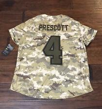Nike Women's Dak Prescott Dallas Cowboys Salute To Service Football Jersey Sz.XL