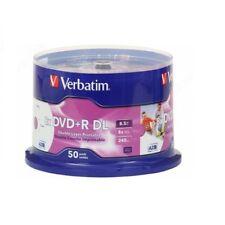 50 DL DVD +R VERBATIM 8X DUAL LAYER DOUBLE VERGINI 43758 8,5 GB AZO XboX + 1 cd