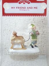 """""""My Friend and Me"""" Victorian Christmas Village Figurine by Holiday Time"""
