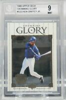 KEN GRIFFEY JR 1999 Upper Deck Crowning Glory #CG3 MARK McGWIRE BGS 9 MINT