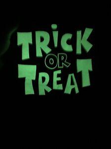 Trick or Treat Halloween Dog Costume Tee T-Shirt Orange Black Glow In The Dark M