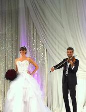 12 FT Iridescent Acrylic Crystal Diamond Cut Beaded Curtain Wedding Backdrop