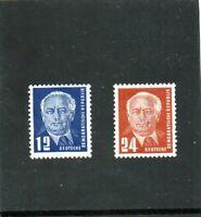 """DDR """"Wilhelm Pieck I"""" Nr. 251** + Nr. 252b**, tiefst-geprüft VP Schönherr"""