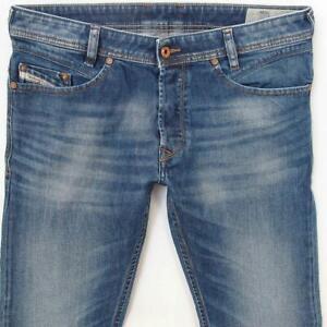 Mens Diesel IAKOP 0848C Stretch Tapered Blue Jeans W31 L30