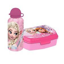 Disney Frozen Wasserflasche Trinkflasche Alu 400ml Brotdose Lunchbox