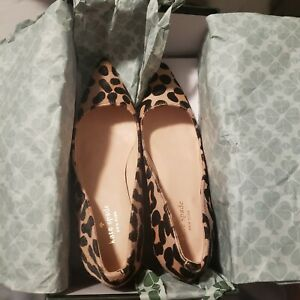 kate spade shoes 8 new - leopard print and gold