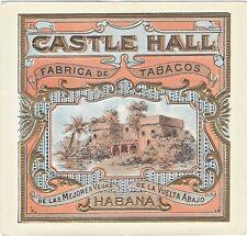 ca. 1920's/30's Castle Hall Tobacco Label. Fabrica de Tabacos, Habana.