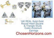 Square & Triangle Stud Cubic Zirconium Earrings New listing