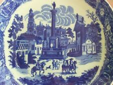 """Large Round Plate Platter Blue Willow Style Victoria Ware Ironstone 16"""" Diameter"""