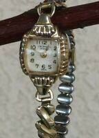 Cromwell Swiss 17 Jewels MECHANICAL Gold Filled Bracelet Watch WORKS 6 1/2""