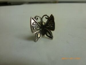 retired James Avery Sterling Silver Mariposa Butterfly Lapel Collar Pin