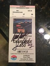Mark Martin & Jack Roush 1995 Autograph Signed Charlotte 500 Ticket Victory