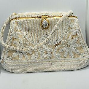 mother gift white bag bridal bag vintage white batiste bag wedding bag ibiza party woman gift Old batiste evening bag mother day