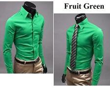 Herren Hemd Business Hemden Bügelleicht Hochzeit Freizeit Slim Fit T-shirt Mode