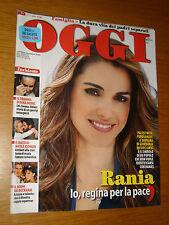 OGGI 2009/4=RANIA GIORDANIA=ROBERTO BOLLE=FRANCESCO CAFISO=EVA MIKULA=BECKHAM=
