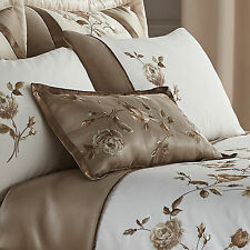 Catherine Lansfield Antique Rose Unique Pattern Filled Cushion Gold 30x50cm