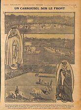 Carrousel Front d'Alsace Chasseurs d'Afrique Fantasia 1916 WWI