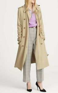 Polo Ralph Lauren Womens Khaki Trench Coat Mac Duster KW52 AUTHENTIC LARGE L