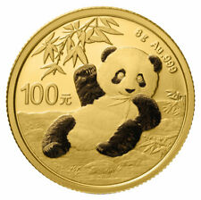 2020 China 8 g Gold Panda ¥100 Coin GEM BU SKU59888