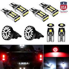 Car Led Package Kit For License Plate Lamp Reverse Backup Brake Light Bulbs 8pcs