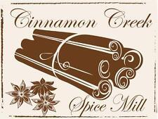 Cinnamon Creek Spice Mill Spices Food Baking Vintage Distressed Retro Metal Sign