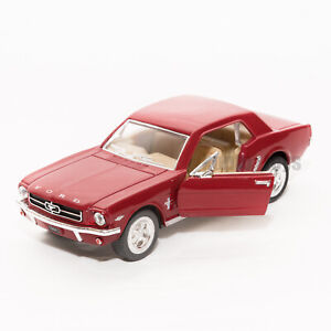 Ford Mustang 1964 1/2 in Red, Kinsmart scale 1:36, model toy car gift