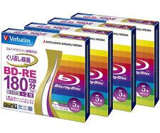 20 Verbatim Bluray Discs BD-RE 25GB Single Layer 2x Speed Inkjet Printable Disk