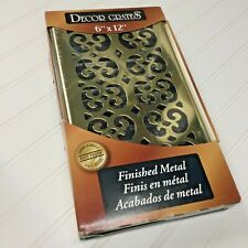 Decor Grates Wall Ceiling Register 6 X 12 Gold Scroll Brass SP612W New in Box