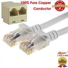 10FT RJ45 CAT5E Ethernet LAN Network Cable 1000M +CAT 5 6 LAN Ethernet Splitter